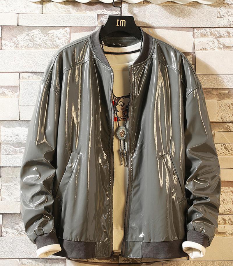 Boy's Men's Fashion Leatherette Faux Leather Jackets Coats