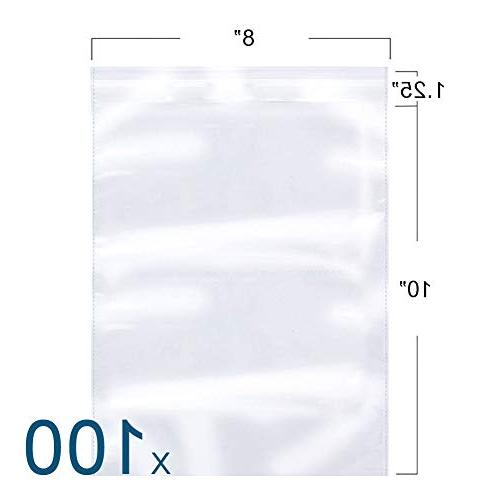 clear reclosable poly bag