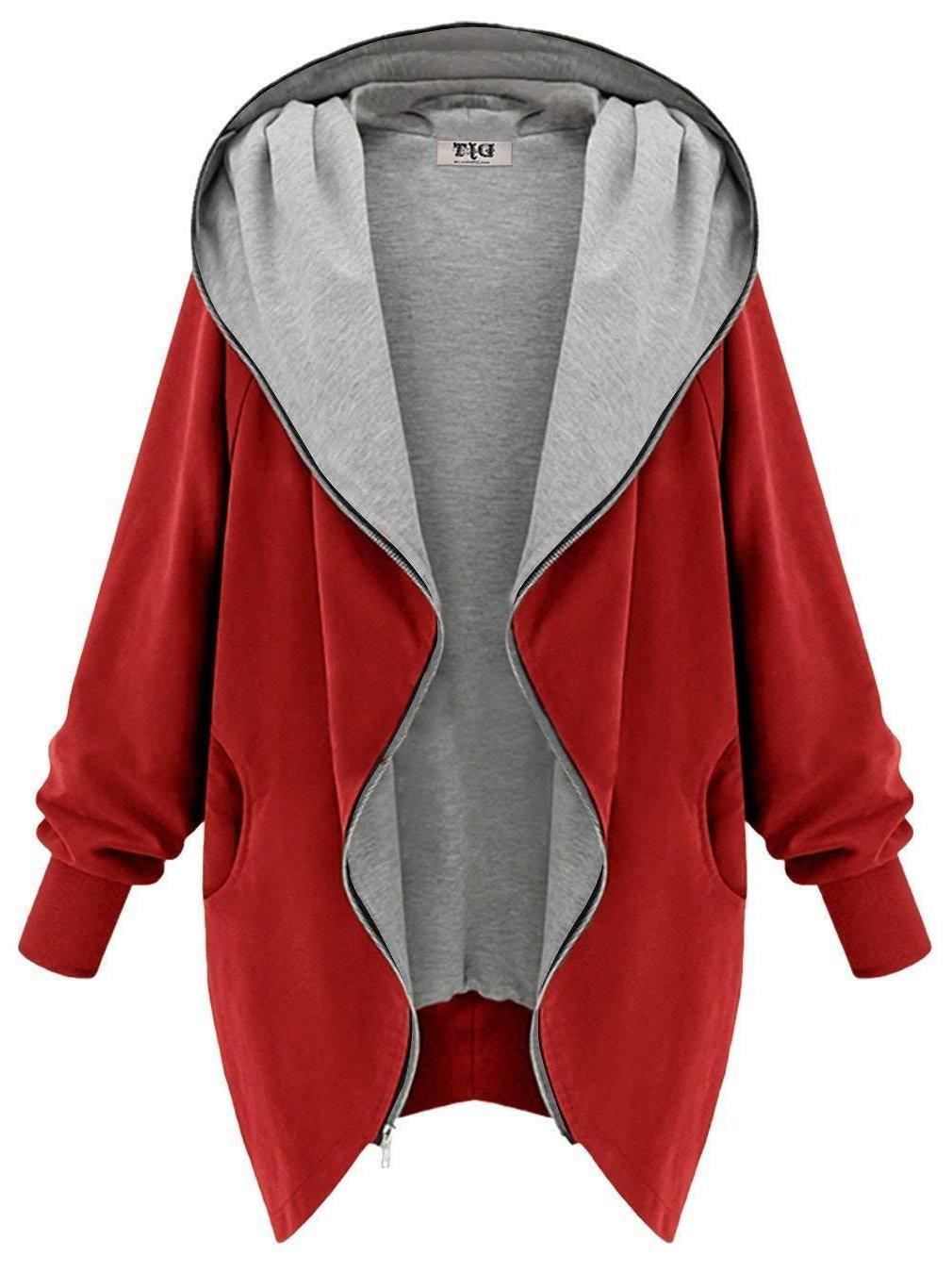DJT Women's Hooded Zip-up Lightweight Coat Jacket