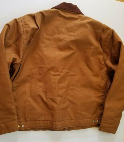Detroit Brown Lined Jacket Sz XL in USA