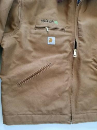 Carhartt J001 Detroit Brown Blanket Lined Jacket in
