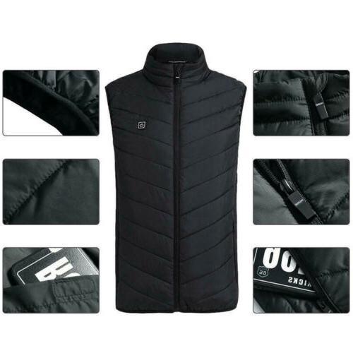 Electric Jacket USB Pad Winter Body Warmer Unisex