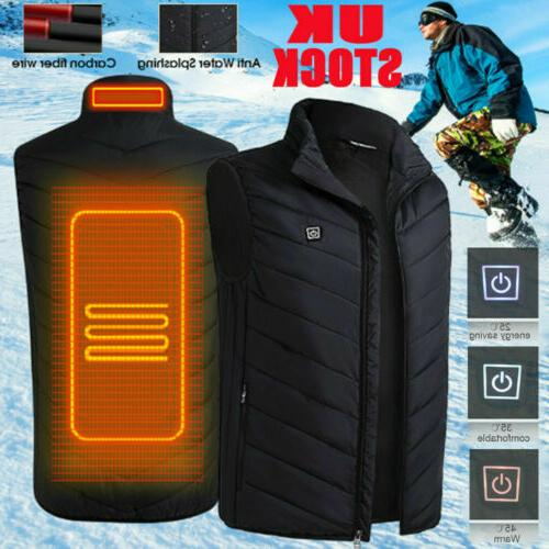 electric vest heated jacket usb thermal warm