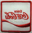 ENJOY COCA-COLA 3 inch square SODA PATCH for jacket or shirt