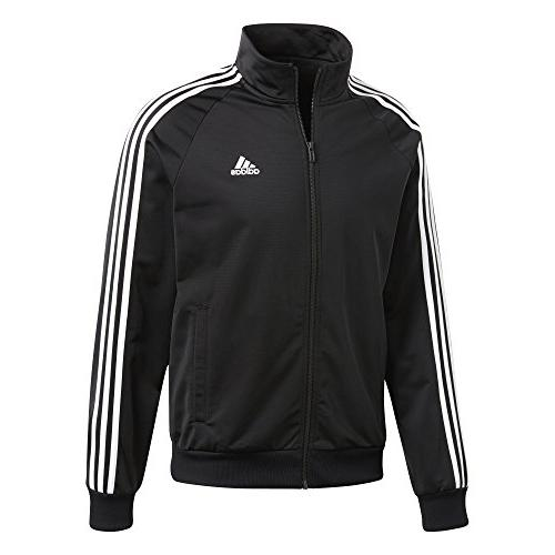 adidas Men's Essentials 3-Stripe Tricot Black/White, Large