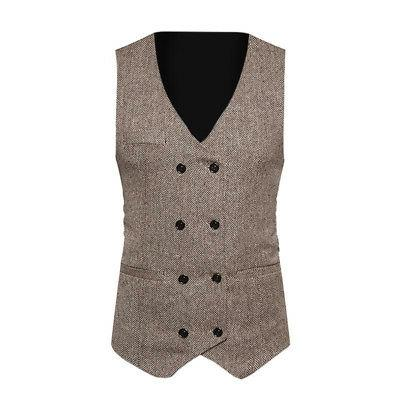 Fashion Double-breasted Slim Fit Formal