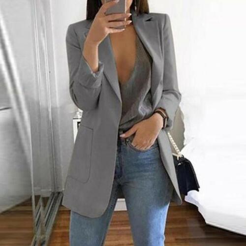 Fashion Long Suit Jacket Outwear