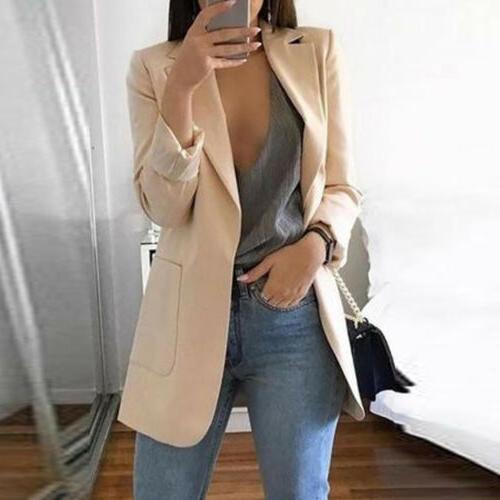 Fashion Long Cardigan Casual Lapel Blazer Suit