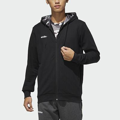 fast and confident aop hooded track jacket