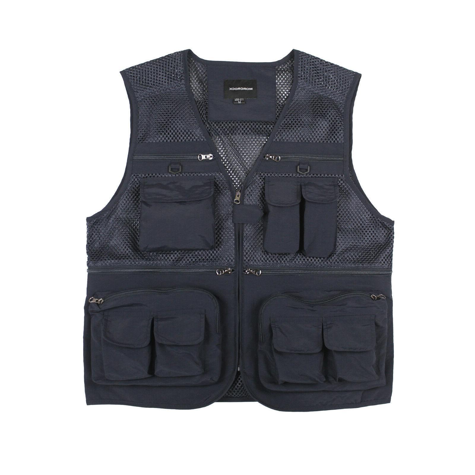 Mororock Fishing Vest Mesh 16 Pockets Photography Dry Waistcoat Jacket