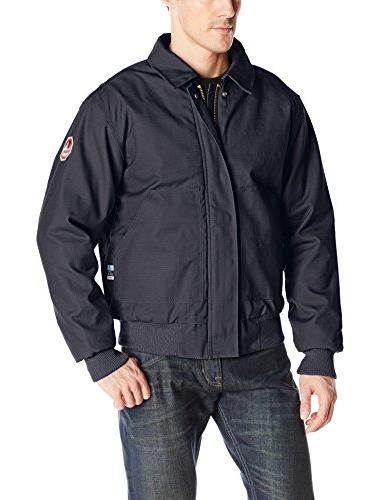 flame resistant insulated bomber jacket