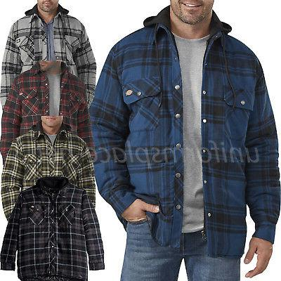 flannel jacket mens relaxed fit icon hooded