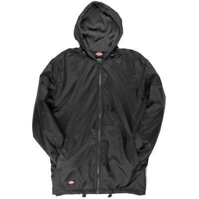 fleece lined nylon hooded windbreaker men s