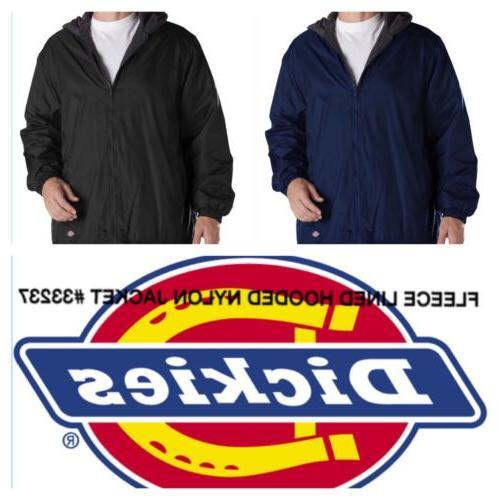 fleeced lined hooded nylon windbreaker mens zipper