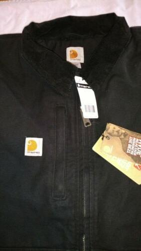Carhartt Full Jacket Sz Black New