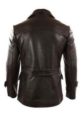 German Men's Black Real Jacket/Coat