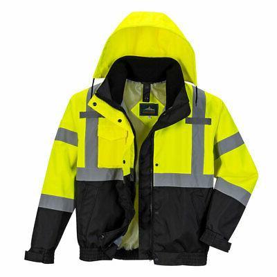 hi vis bomber rain jacket 3 jackets