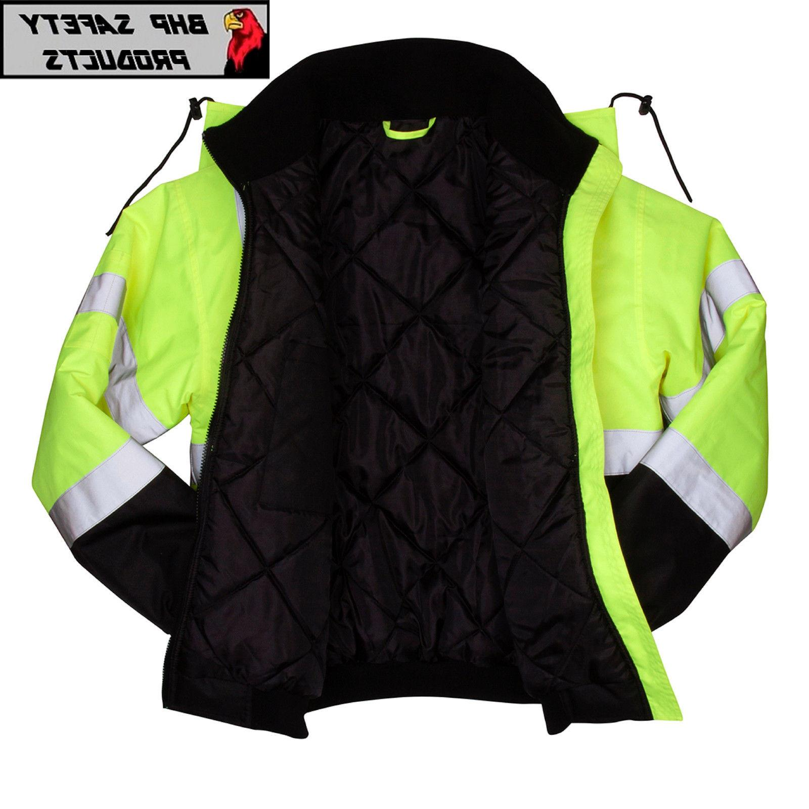 Pyramex Hi-Vis Insulated Safety Jacket WORK