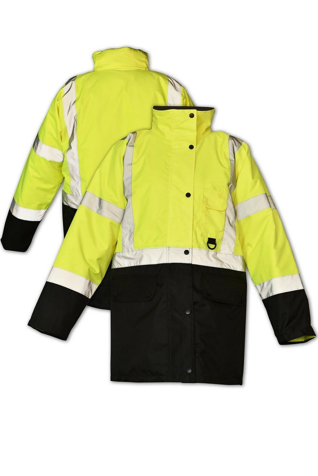 Hi Vis Insulated Bomber Work HIGH VISIBILITY