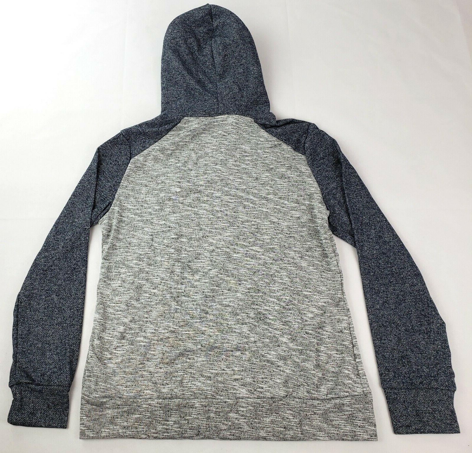 Hoodie Jacket Color Block Long Zip-up Sweatshirt
