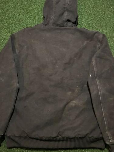 Carhartt Sandstone Quilted Flannel Work Jacket L