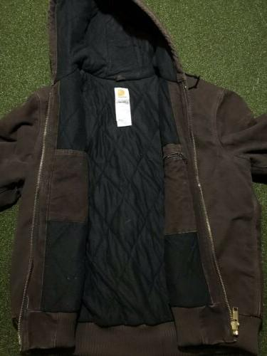 Carhartt J130 Quilted Flannel Lined Active Jacket L