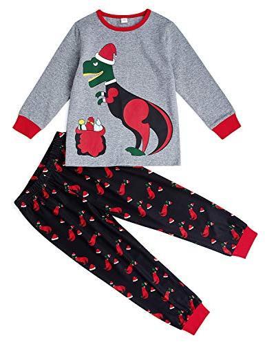 kid boy girls pajamas set long t