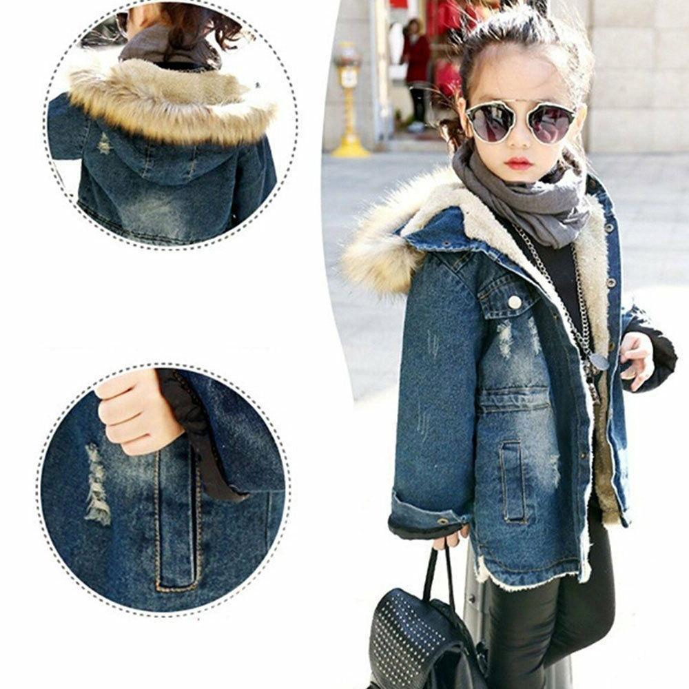 Kids Big Thick Denim Jacket Outwear