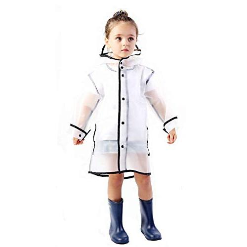 kids raincoat durable translucent rain cape portable