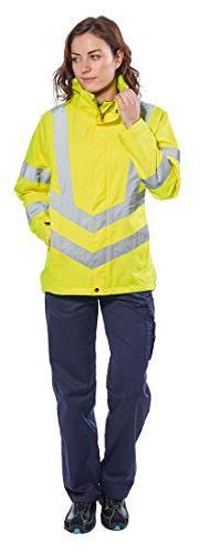 Portwest Ladies Breathable Jacket Viz Visability Work ANSI 3, Yellow