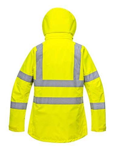 Portwest Ladies Jacket Insulated Safety Visability Work Bomber ANSI X