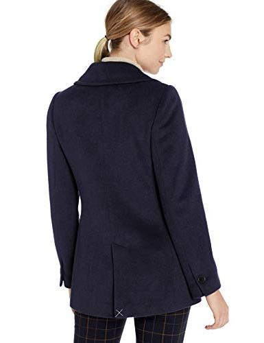 Lark & Double Breasted Peacoat, navy, 16