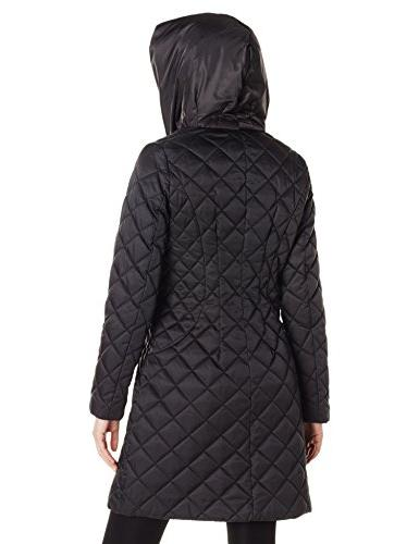 Lark & Ro Quilted Jacket with Hood,