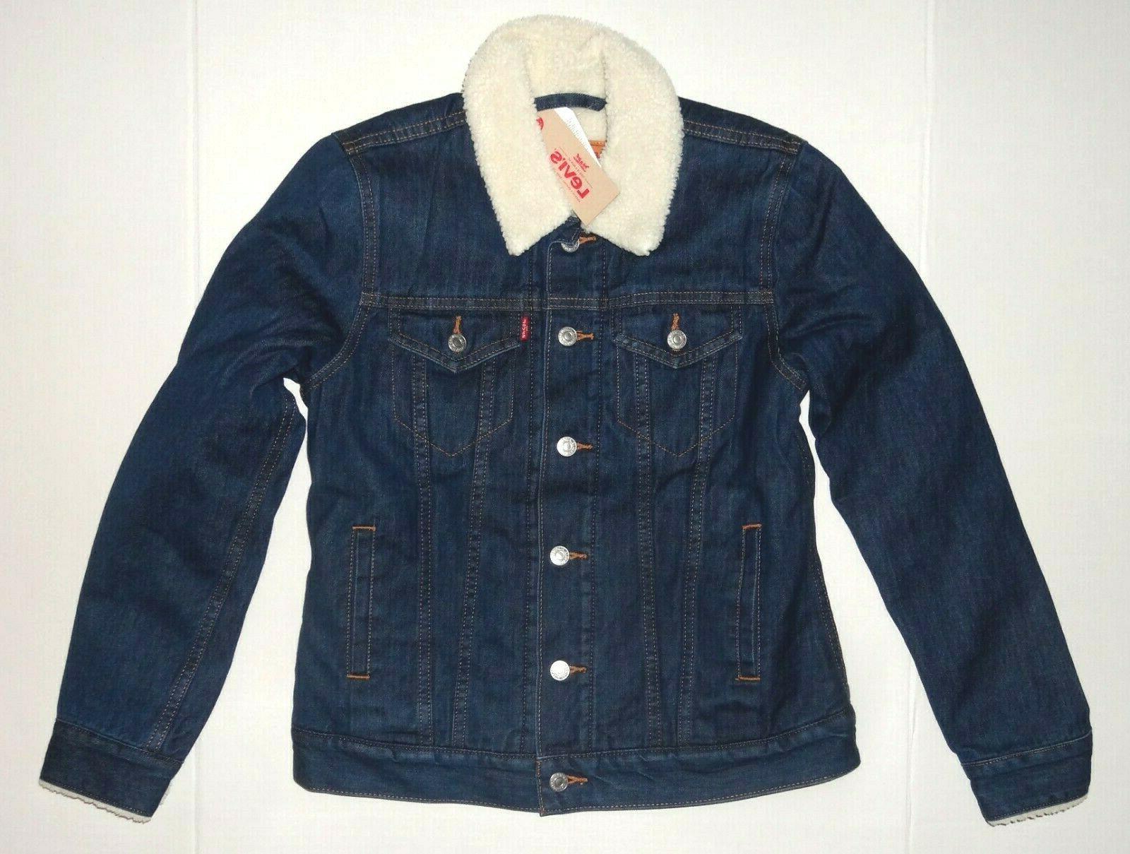 levi s women s sherpa trucker jacket