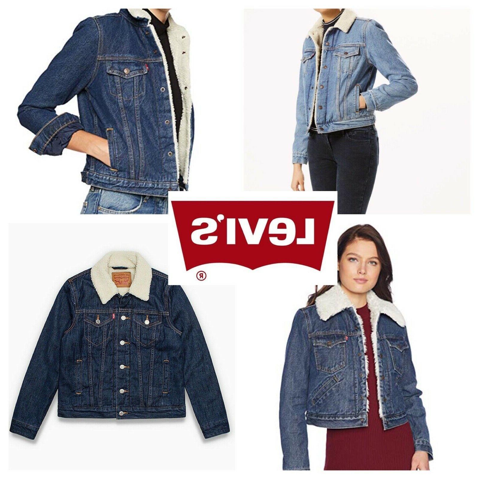 levis sherpa womens trucker jackets many colors