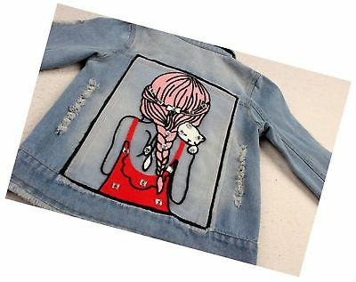 Star Flower Little Girls Denim Jackets Outwear