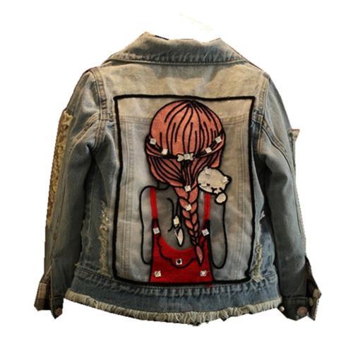 Star Flower Little Big Girls Denim Jackets Coats Outwear 4,