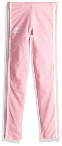 adidas Originals Little Girl's 3 Stripes Leggings Pants, lig