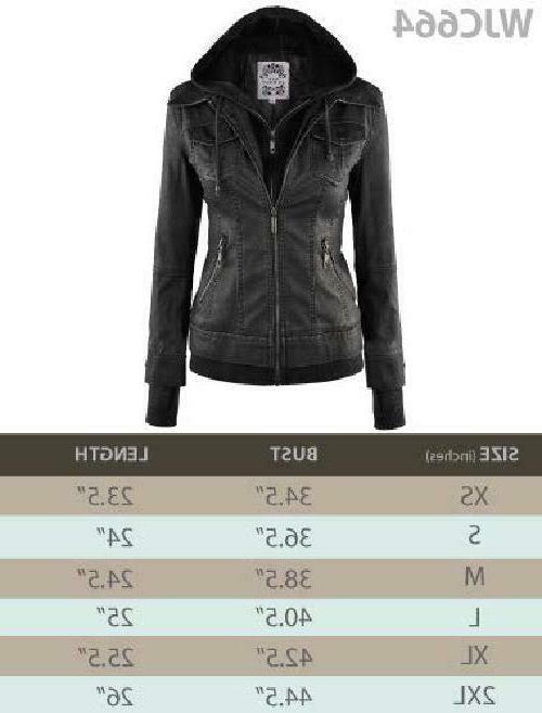 Lock Love LL WJC664 Leather Jacket Hoodie XS Coffee