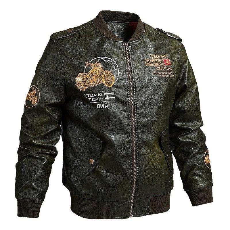 Male <font><b>Jacket</b></font> Collar jaqueta PU Biker Casual Motorcycle Faux Fleece