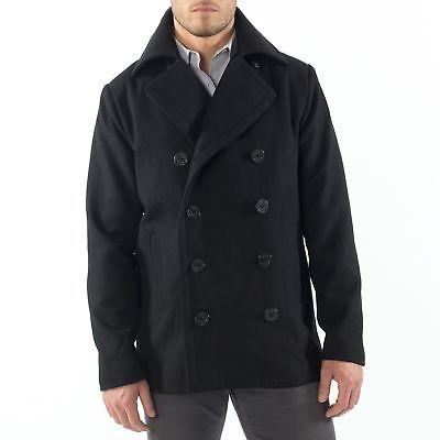 mason mens wool blend pea coat jacket