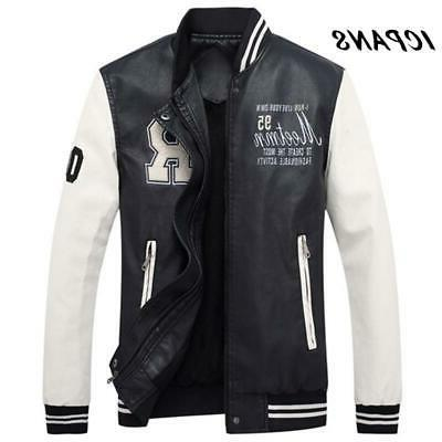 men embroidery baseball jackets coats stand collar