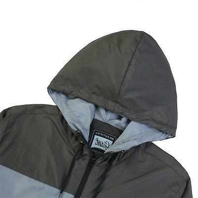 Men Hooded Water Resistant Lightweight Sports Jacket