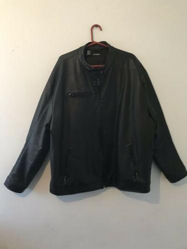 Men's Faux Leather Coat/Jacket Excellent Condition