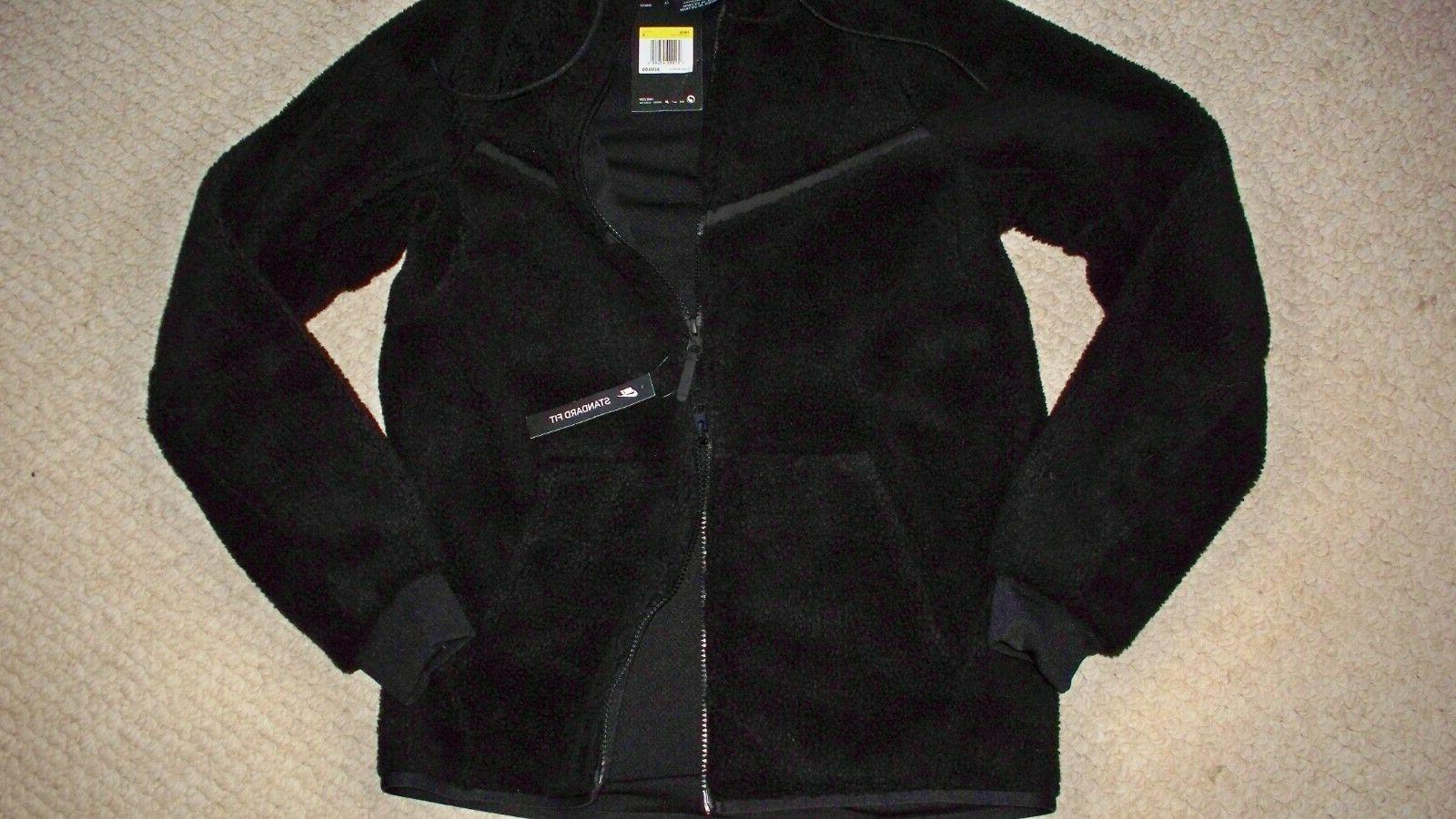 Men's Black NIKE Fleece Sherpa S Hoodie $150 NWT!