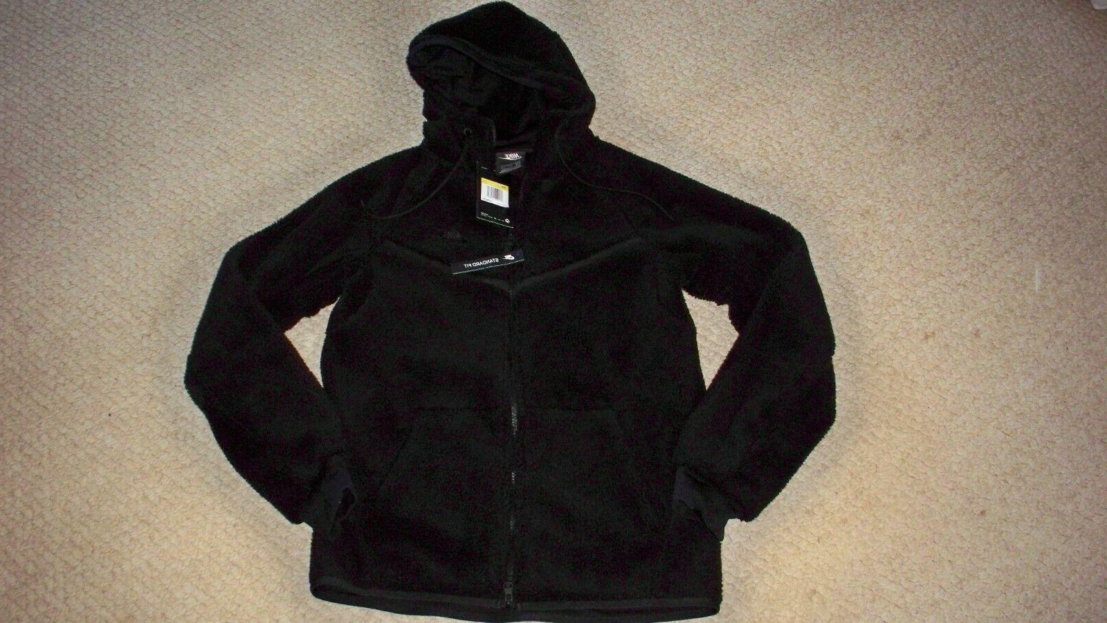 men s black hooded jacket tech fleece