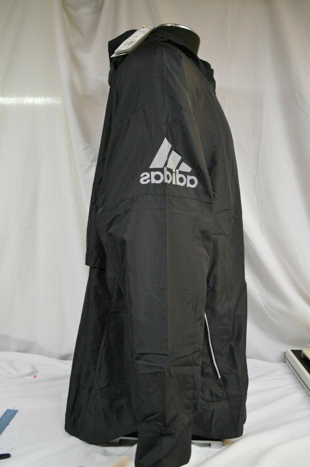 Adidas Men's Black Hooded Reflective Jacket 2XL