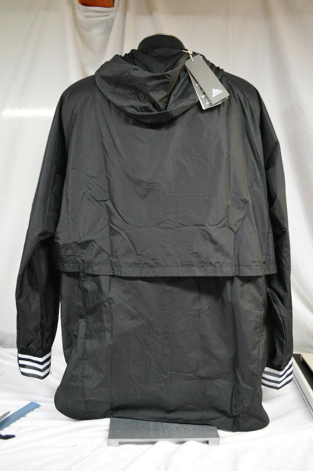 Adidas Men's Hooded Windbreaker Reflective Jacket