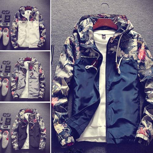 Men's Camo Hooded Jacket Loose