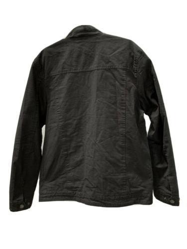 WenVen, Cotton Military Lapel Jacket Charcoal -
